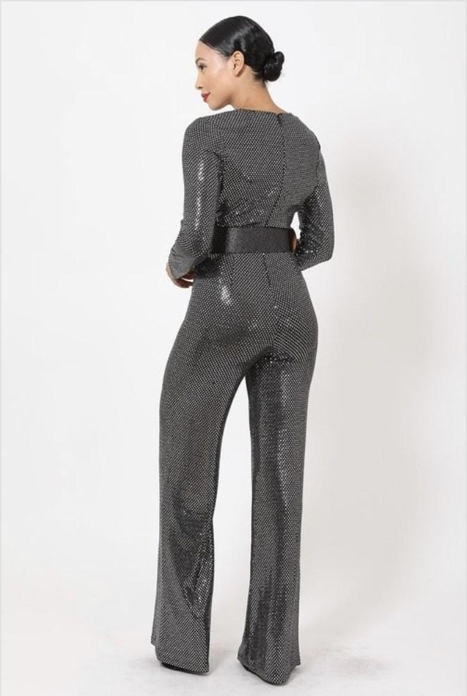 Chantelle Silver Jumpsuit