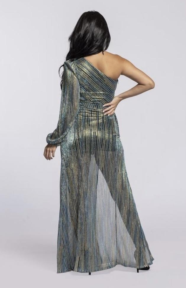 Nabie One Shoulder Maxi Dress
