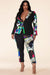 Briana Pop Art Blazer Set