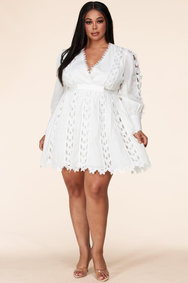 Bella Butterfly Crochet Pattern Mini Dress (Small to 3XL)