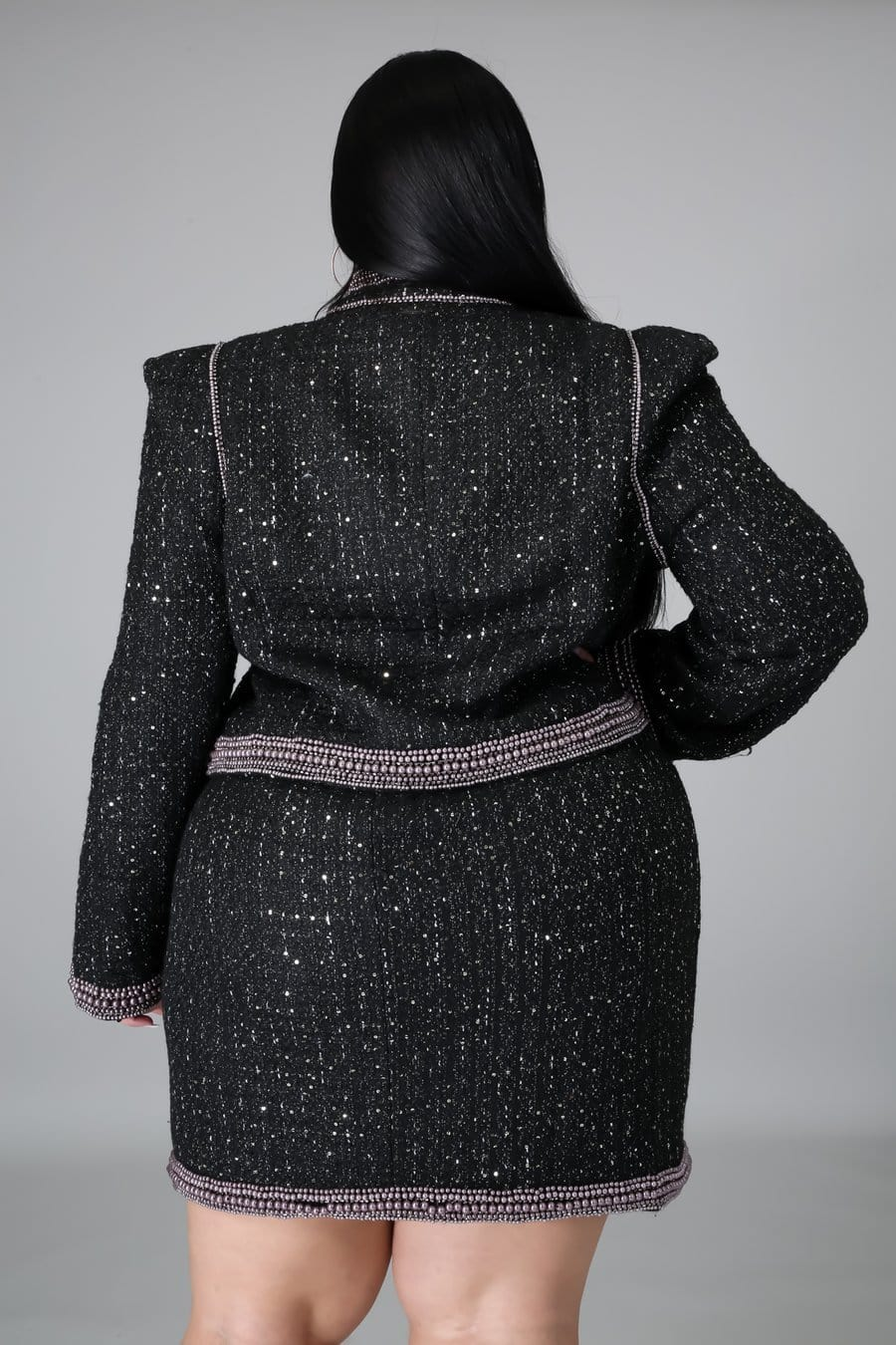 Midnight Tweed Blazer Set