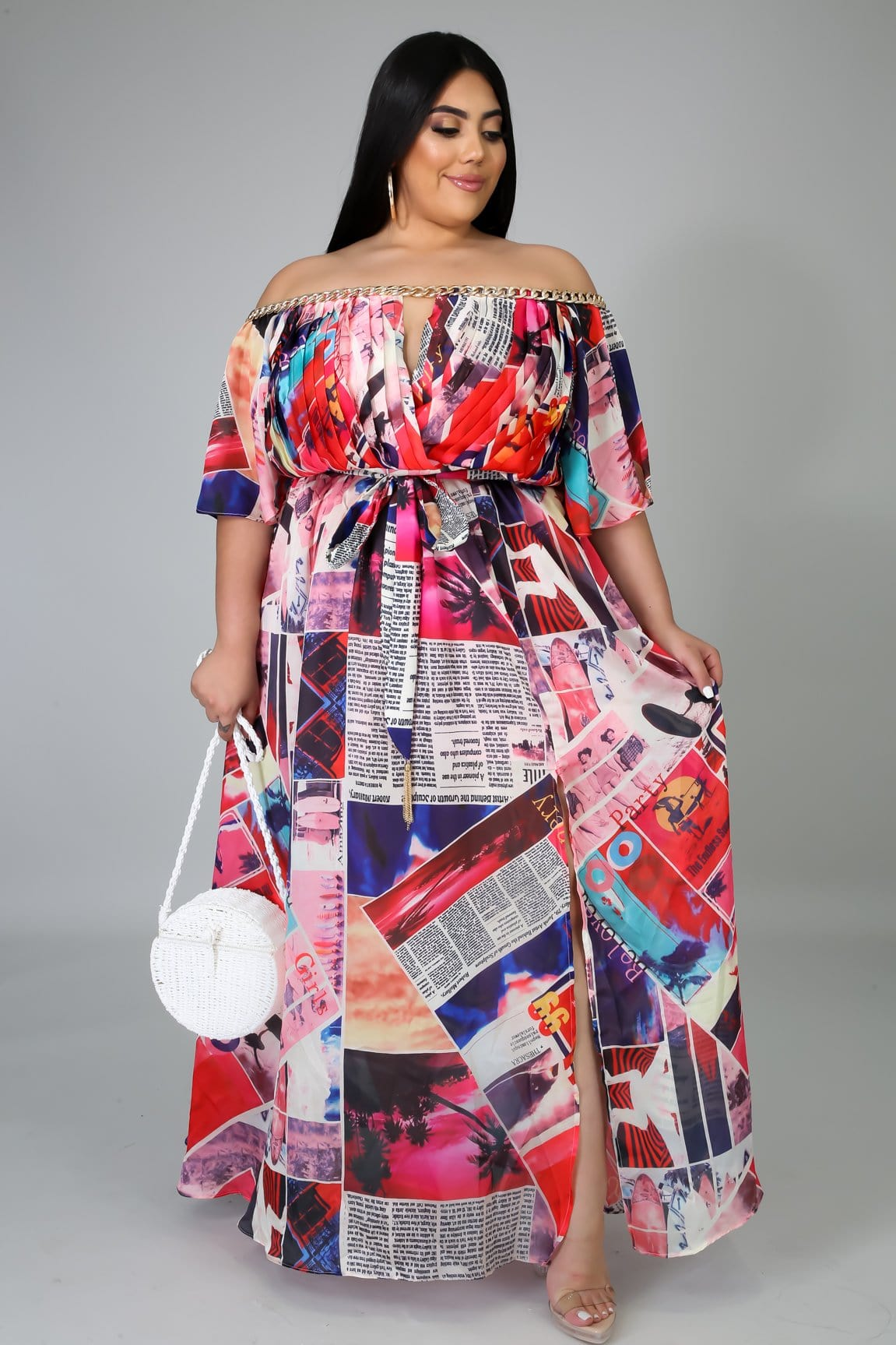 Bringing The News Multiprint Dress