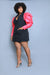 Puff Sleeve Blazer Mini Dress (Pink/Black)