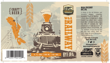 Load image into Gallery viewer, W&A Railway Rye IPA