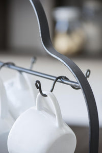 Platero porta tazas - Plate holder with hooks for mugs