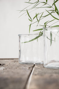 Vaso grande en cristal - Big pot thick glass