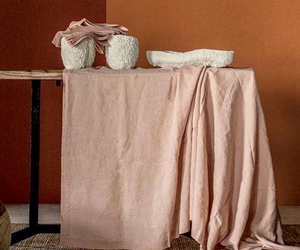 Mantel en lino puro - Linen table cloth