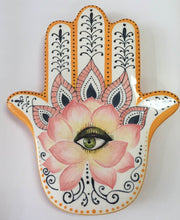 "Load image into Gallery viewer, Hamsa Wall / Fence Hanging 12"" x 7"""