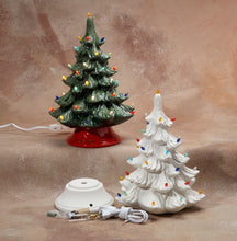 "Load image into Gallery viewer, Christmas Tree with Base & Light Kit 14""H"