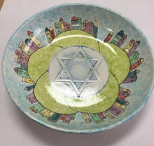 "Load image into Gallery viewer, Big Serving Bowl with Star of David 12.5"" D"