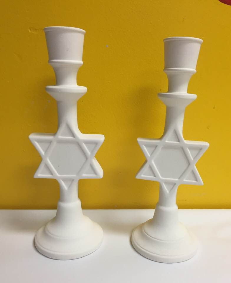 Star of David Candle Holders (pair)