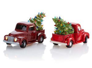 LIGHT UP - Vintage Truck w/Tree