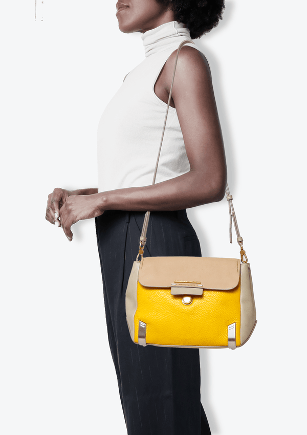 TRICOLOR LEATHER CROSSBODY BAG