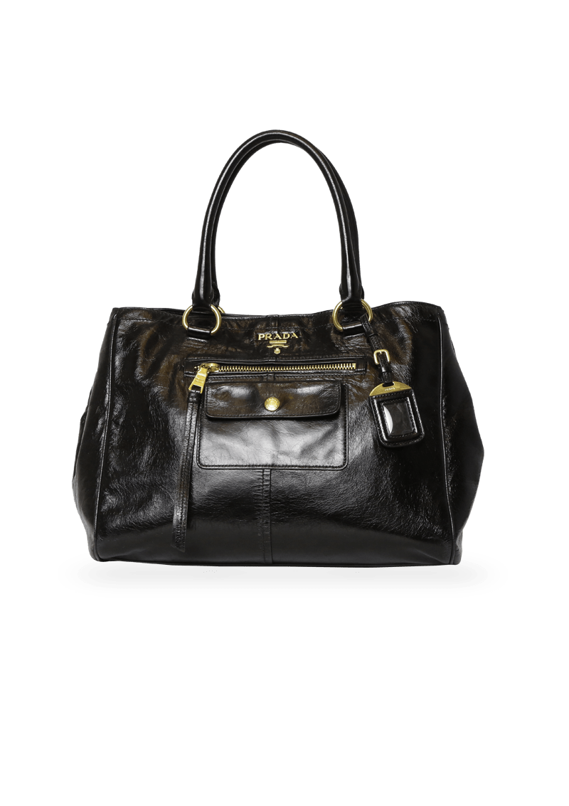 VITELLO SHINE LEATHER TOTE