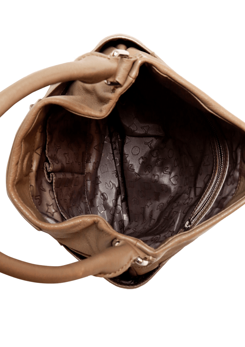 TEXTURED LEATHER HOBO