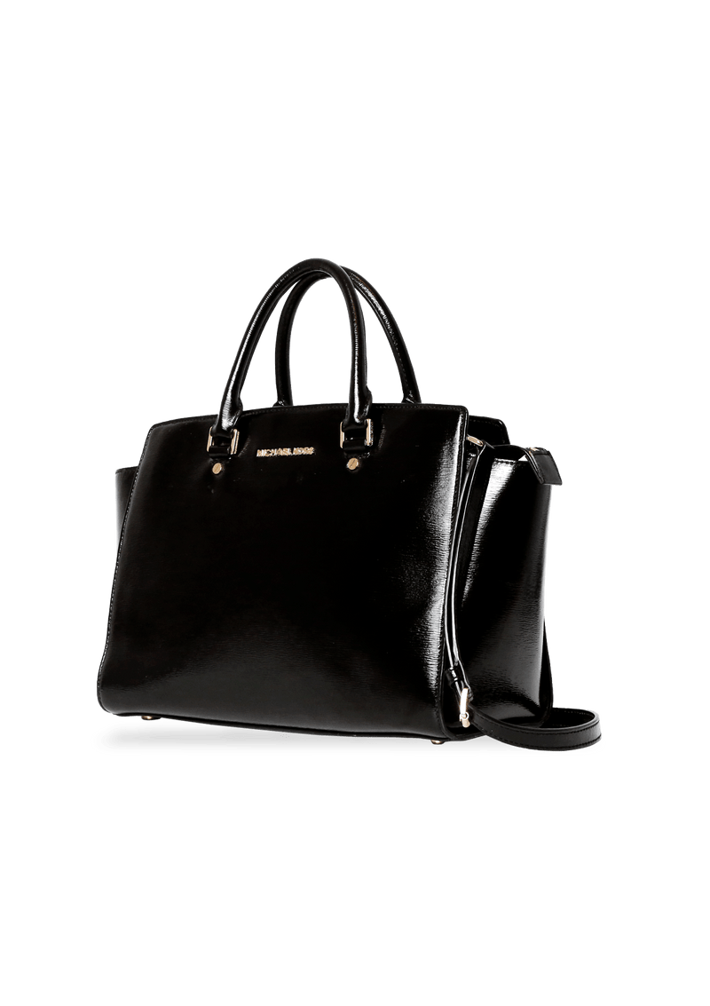BOLSA LARGE SELMA SATCHEL BAG MICHAEL KORS PRETO ORIGINAL