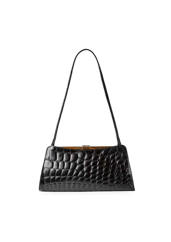EMBOSSED LEATHER CLUTCH FURLA PRETO ORIGINAL