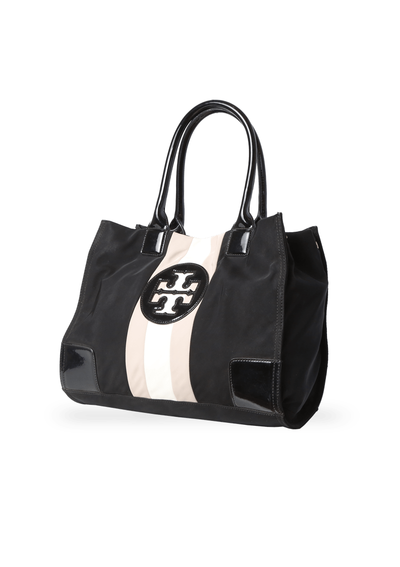 LEATHER TRIMMED LOGO TOTE