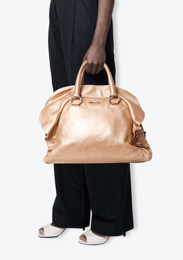METALLIC GOLD LEATHER BAG