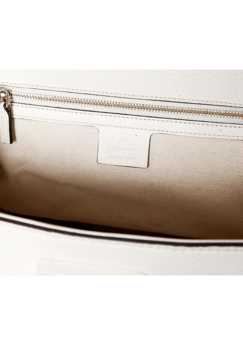 LEATHER BAMBOO SATCHEL