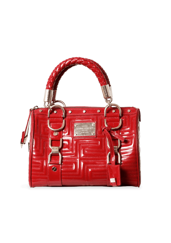 LOGO PATENT LEATHER BAG