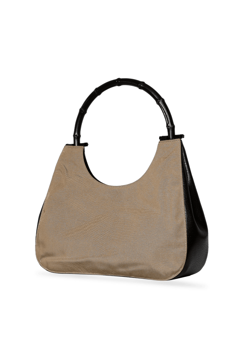 LEATHER BAMBOO HANDLE BAG