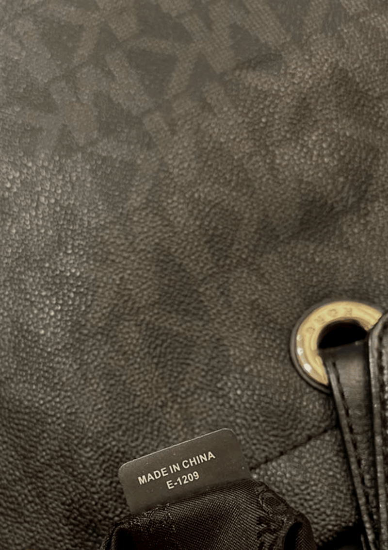 MONOGRAM LEATHER TOTE