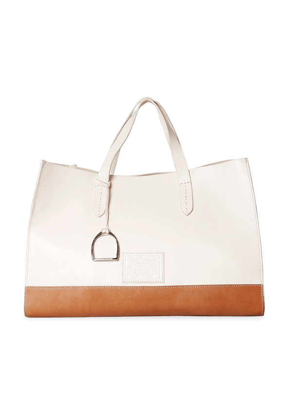 LEATHER BICOLOR TOTE