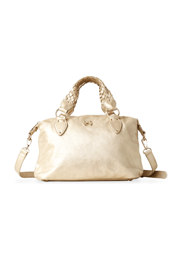 BRAIDED SATCHEL MICHAEL KORS DOURADA ORIGINAL