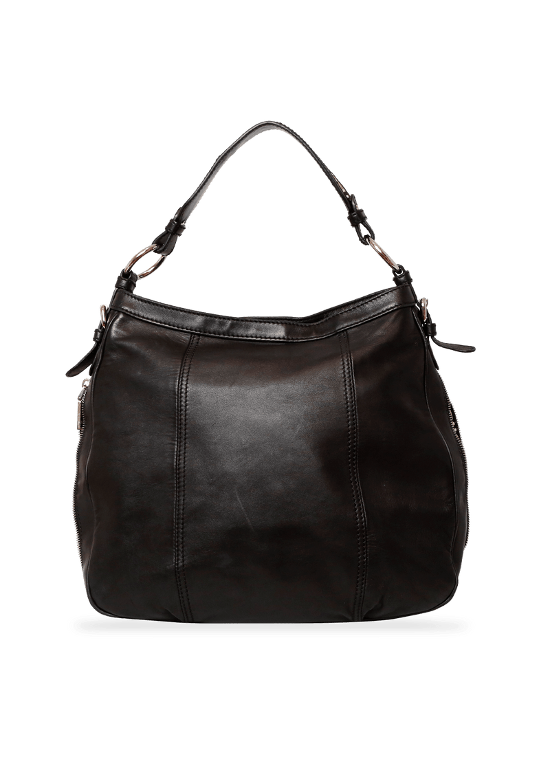 EMBOSSED LEATHER HOBO