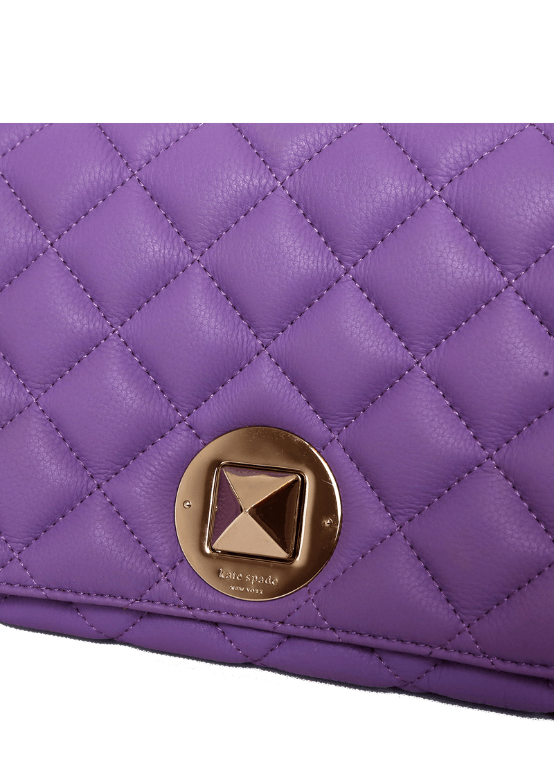 QUILTED LEATHER TURNLOCK