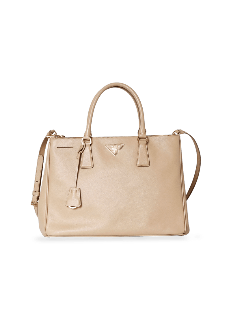 SAFFIANO LUX DOUBLE ZIP GALLERIA