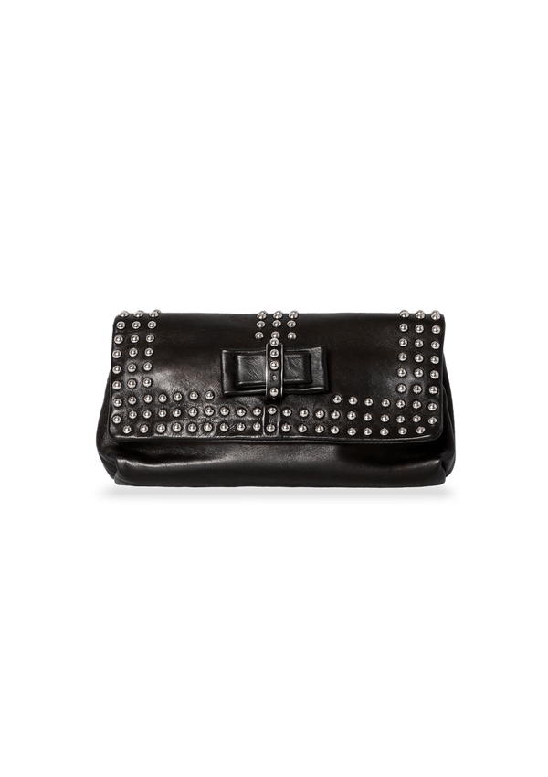 SWEET CHARITY STUDDED CLUTCH