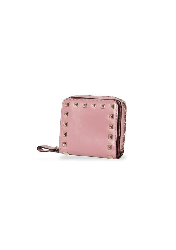 SMALL ROCKSTUD ZIP AROUND WALLET