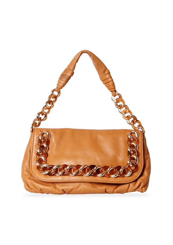 CHAIN LINK FLAP BAG