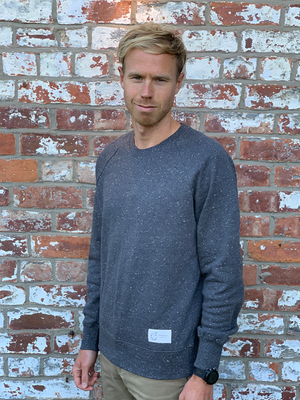 Organic Speckled Jumper - Men's Dark Grey