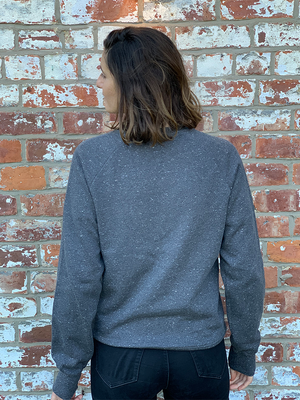 Organic Speckled Jumper - Women's Dark Grey