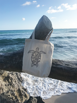 Organic Turtle Tote Bag (Project Aware: Save The Ocean)