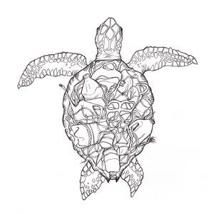 Men's Organic Plastic Turtle T-Shirt (Project Aware: Save The Ocean)