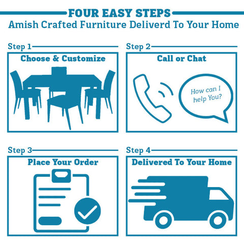 Four Easy Steps: Order Amish Country Furniture Delivered To Your Home