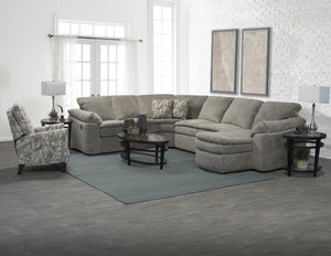 England 7300 Reclining Sectional In Gray Fabric American Made
