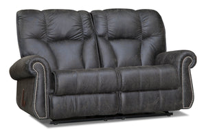 Black Amish Crafted Reclining Loveseat