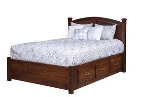 Amish Calais Bed With Storage