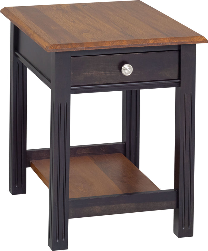 Fluted Leg End Table