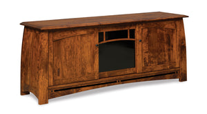 Amish Boulder Creek TV Stand in Rustic Cherry