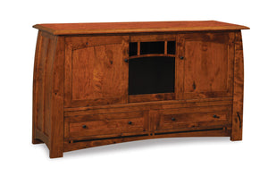 Boulder Creek TV Stand in Rustic Cherry