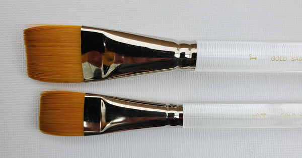 Series 850 | Gold Sable Stroke Brush - Flat