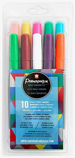 Permapaque® Opaque Marker | Fine Point | Package of 10