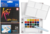 Koi Water Colours Pocket Field Sketch Box | 24 Colours