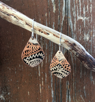 Etched Turkish Copper Earrings
